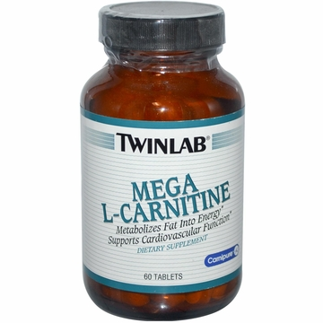 Twinlab Mega L-Carnitine 500 mg - 60 Tablets