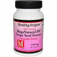 MegaNatural BP-Grape Seed Extract 150mg by Healthy Origins - 60 Capsules