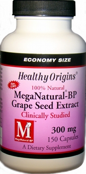 MegaNatural BP-Grape Seed Extract 300mg by Healthy Origins - 150 Capsules