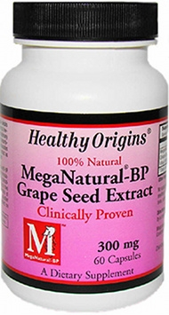 MegaNatural BP-Grape Seed Extract 300mg by Healthy Origins - 60 Capsules