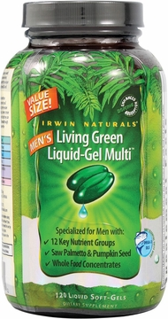 Men's Living Green Liquid-Gel Multi Vitamin by Irwin Naturals - 120 Softgels