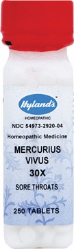 Mercurius Vivus 30X by Hylands - 250 Tablets