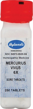 Mercurius Vivus 6X by Hylands - 250 Tablets