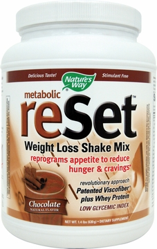 Metabolic Reset Shake Mix Chocolate by Nature's Way - 1.4 lbs.