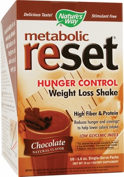 Metabolic ReSet Shake Mix Chocolate by Nature's Way - 10 Packets