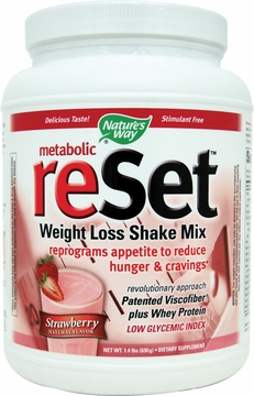 Metabolic Reset Shake Mix Strawberry by Nature's Way - 1.4 lbs.