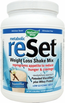Metabolic Reset Shake Mix Vanilla by Nature's Way - 1.4 lbs.