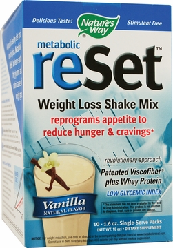 Metabolic ReSet Shake Mix Vanilla by Nature's Way - 10 Packets
