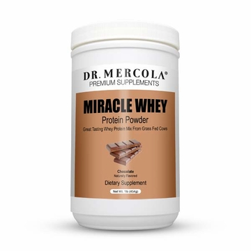 Miracle Whey Protein Powder Chocolate by Mercola - 1 lb