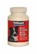 Multi-Vitamin/Minerals Supplement For Dogs By Petguard - 50 Count