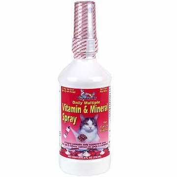 Multiple Vitamin & Mineral Spray for Cats and Kittens by Dynamic Health Labs - 8oz.
