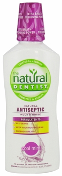 Natural Antiseptic Mouth Rinse Cool Mint by Natural Dentist - 16.9oz.