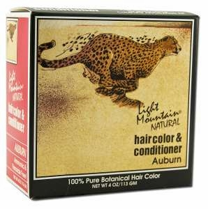 Light Mountain Henna Natural Hair Color and Conditioner (Auburn) - 4 Ounces