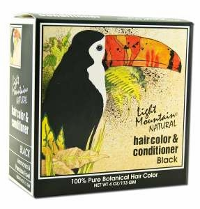 Light Mountain Henna Natural Hair Color and Conditioner (Black) - 4 Ounces
