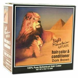 Light Mountain Henna Natural Hair Color and Conditioner (Dark Brown) - 4 Ounces