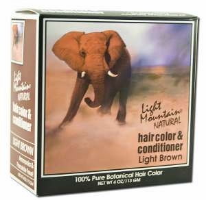 Light Mountain Henna Natural Hair Color and Conditioner (Light Brown) - 4 Ounces