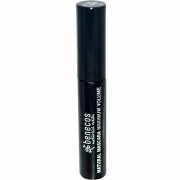 Natural Mascara Maximum Volume Deep Black by Benecos - 8 ml