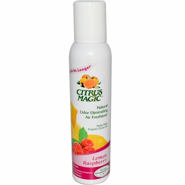 Natural Odor Eliminating Air Freshener Lemon Raspberry by Citrus Magic - 3.5oz.