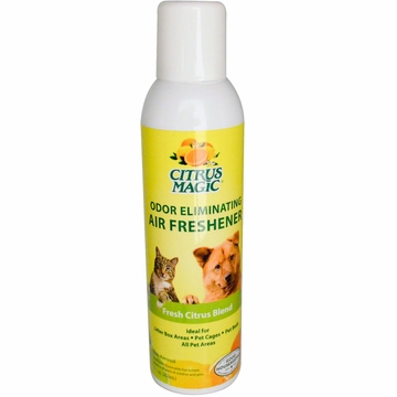 Natural Odor Eliminating Air Freshener Tropical Lemon by Citrus Magic - 3.5oz.