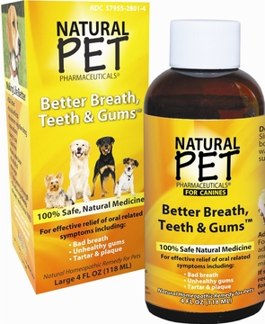 Natural Pet Better Breath Teeth and Gums by King Bio - 4oz.