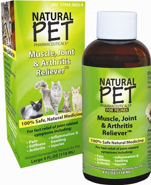 Natural Pet Muscle Joint and Arthritis Reliever by King Bio - 4oz.