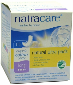 Natural Ultra Pads Long with Wings by Natracare - 10 Pads