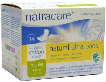 Natural Ultra Pads Regular with Wings by Natracare - 14 Pads