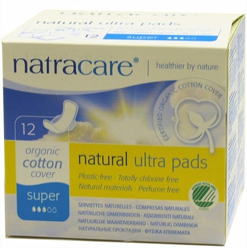 Natural Ultra Pads Super with Wings by Natracare - 12 Pads
