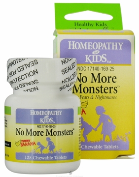 No More Monsters Banana Flavor by Herbs for Kids - 125 Chewable Tablets