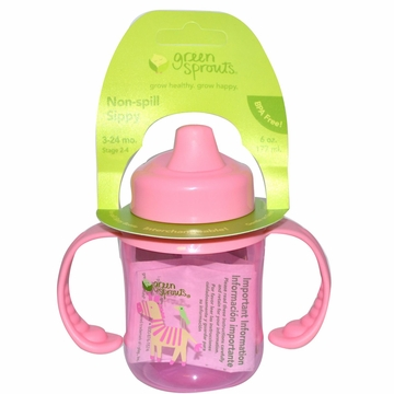 Non-Spill Sippy Cup Pink by Green Sprouts - 6oz.