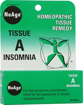 NuAge Tissue A Insomnia by Hylands - 125 Tablets