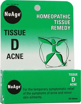 NuAge Tissue D Acne by Hylands - 125 Tablets