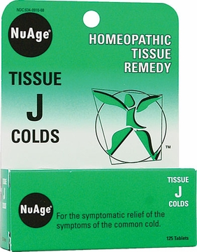 NuAge Tissue J Colds by Hylands - 125 Tablets