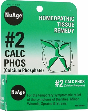 NuAge Tissue Salts Calcarea Phosphorica 6X by Hylands - 125 Tablets