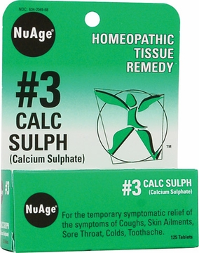 NuAge Tissue Salts Calcarea Sulphurica 6X by Hylands - 125 Tablets