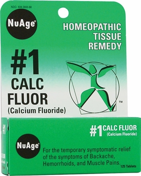 NuAge Tissue Salts Calcium Fluoride 6X by Hylands - 125 Tablets