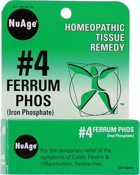 NuAge Tissue Salts Ferrum Phosphoricum 6X by Hylands - 125 Tablets