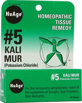 Nuage Tissue Salts Kali Muriaticum 6X by Hylands - 125 Tablets