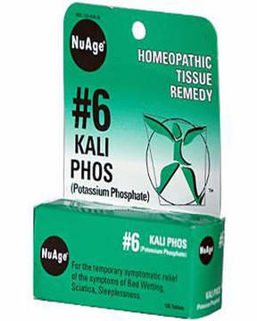 NuAge Tissue Salts Kali Phosphoricum 6X by Hylands - 125 Tablets