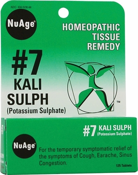 NuAge Tissue Salts Kali Sulphuricum 6X by Hylands - 125 Tablets