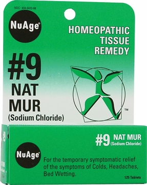 NuAge Tissue Salts Natrum Muriaticum 6X by Hylands - 125 Tablets