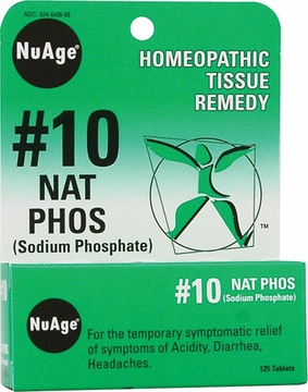 NuAge Tissue Salts Natrum Phosphoricum 6X by Hylands - 125 Tablets