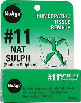 NuAge Tissue Salts Natrum Sulphuricum 6X by Hylands - 125 Tablets