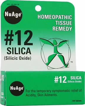 NuAge Tissue Salts Silicea 6X by Hylands - 125 Tablets