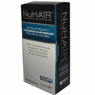 NuHair Thinning Hair Serum for Men and Women by Biotech Corporation - 3.1oz.