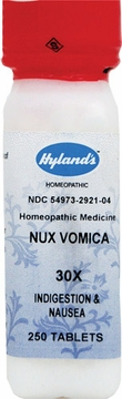 Nux Vomica 30X by Hylands - 250 Tablets