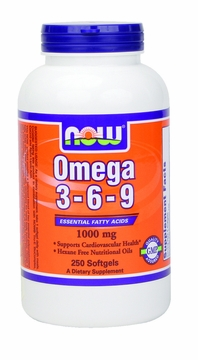 Now Foods Omega 3-6-9 1000 mg - 250 Softgels