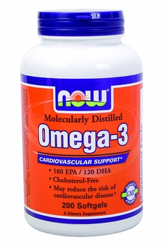 Now Foods Omega-3 - 200 Softgels