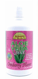 Organic Aloe Vera Juice Cranberry by Dynamic Health Laboratories - 32oz.