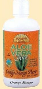 Organic Aloe Vera Juice Orange Mango by Dynamic Health Laboratories - 32oz.